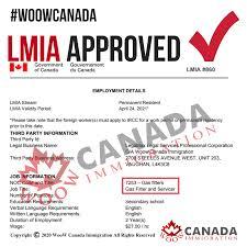 مجوز کار کانادا بدون LMIA